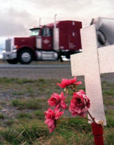 truck accident picture cross